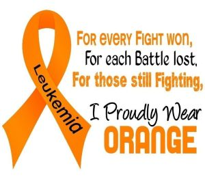 Leukemia Orange Ribbon