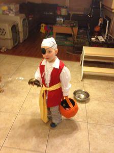 Grady as a Pirate