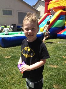 Grady at one of the most recent birthday parties.